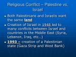 religious conflict palestine vs israel