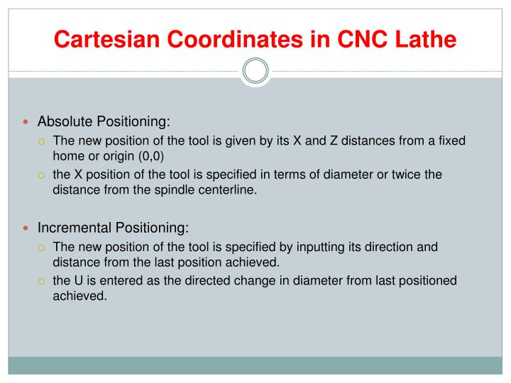 Cartesian Coordinates in CNC Lathe