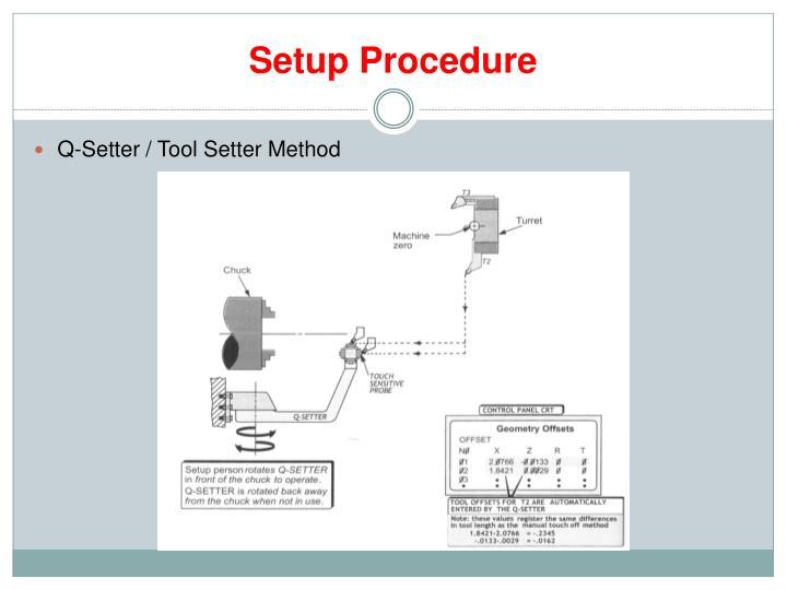 Setup Procedure
