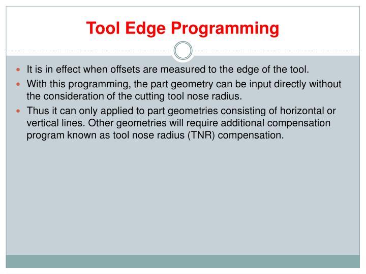 Tool Edge Programming