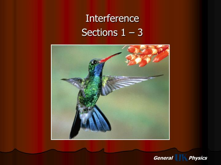 Interference sections 1 3