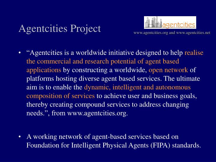 Agentcities project