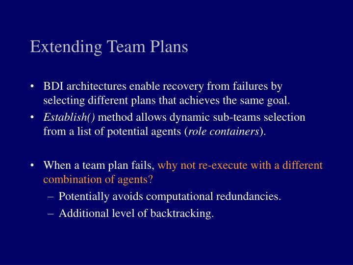 Extending Team Plans