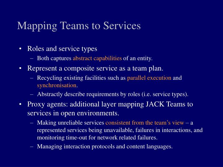 Mapping Teams to Services