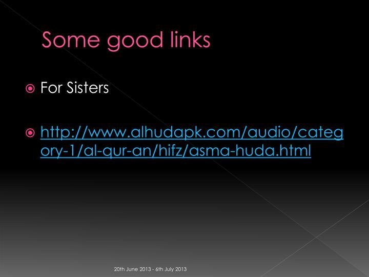 Some good links