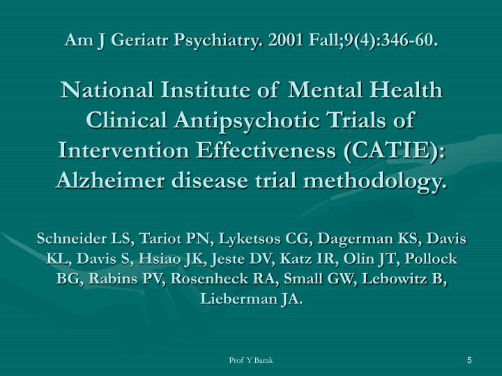 Am J Geriatr Psychiatry. 2001 Fall;9(4):346-60
