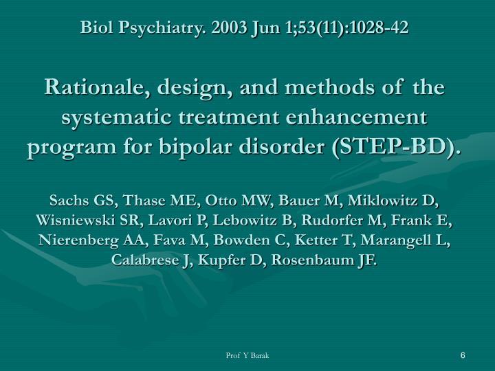 Biol Psychiatry. 2003 Jun 1;53(11):1028-42