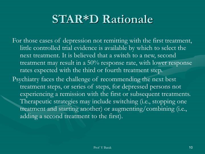STAR*D Rationale