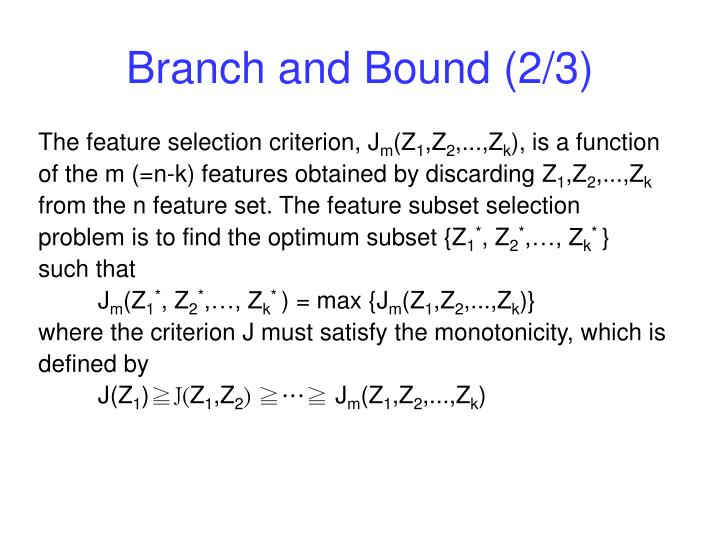 Branch and Bound (2/3)