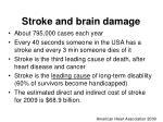 stroke and brain damage