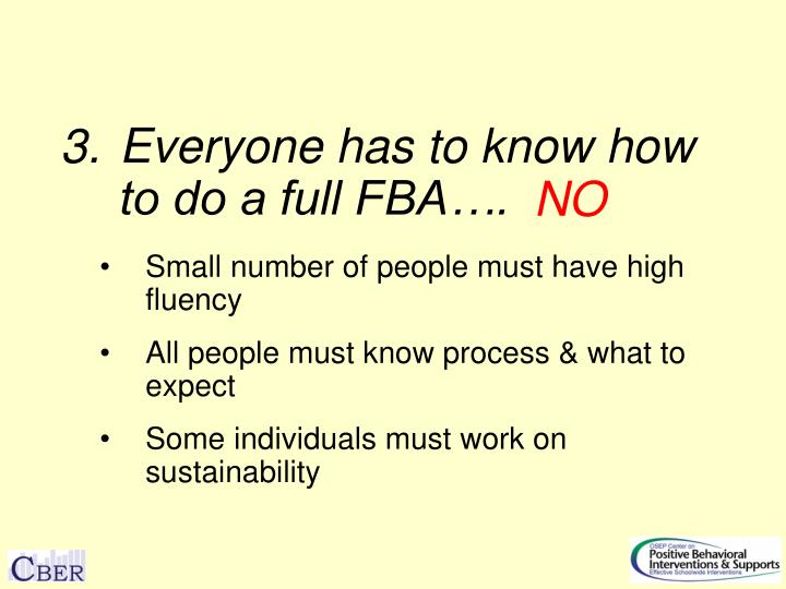 Everyone has to know how to do a full FBA….