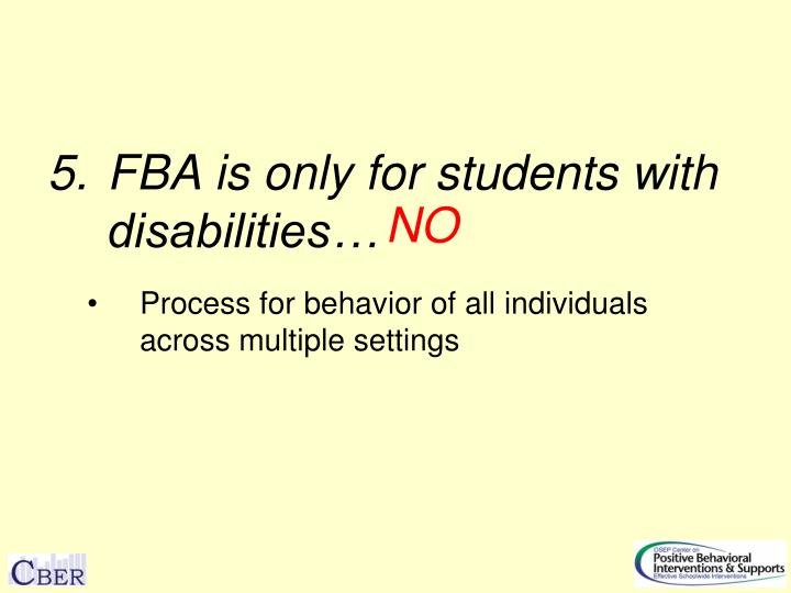 FBA is only for students with disabilities…