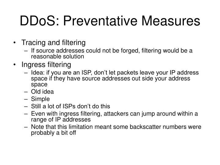 DDoS: Preventative Measures