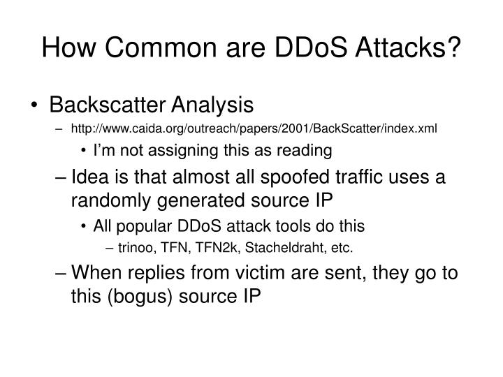 How Common are DDoS Attacks?
