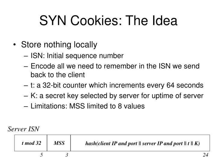 SYN Cookies: The Idea