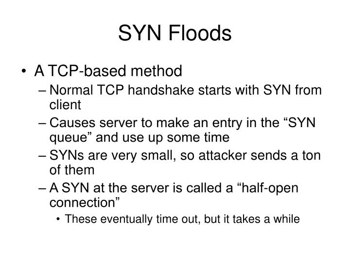 SYN Floods