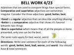 bell work 4 23