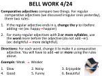 bell work 4 24