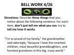 bell work 4 26