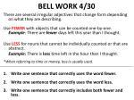 bell work 4 30