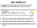 bell work 5 1