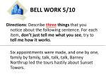 bell work 5 10