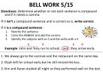 bell work 5 15