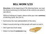 bell work 5 23