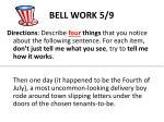 bell work 5 9