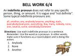 bell work 6 4