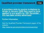 qualified provider framework2