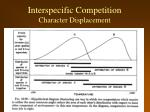 interspecific competition character displacement