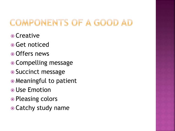 Components of a Good Ad