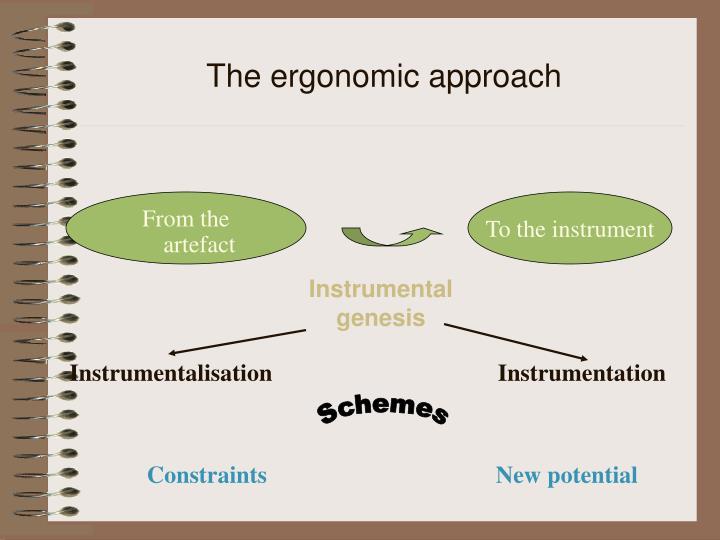 The ergonomic approach