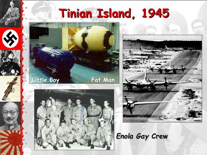 Tinian Island, 1945
