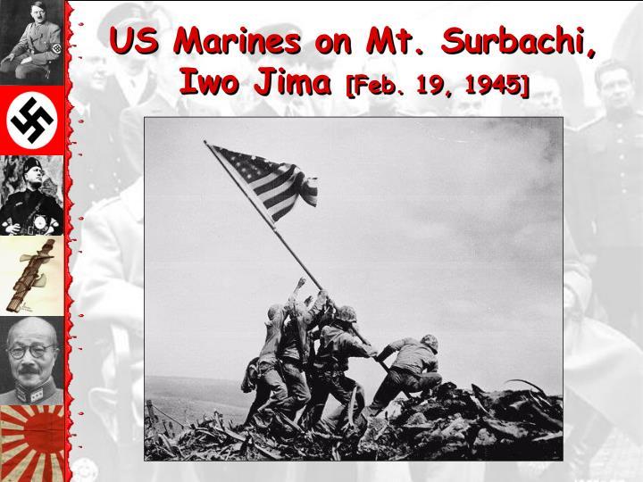 US Marines on Mt. Surbachi,