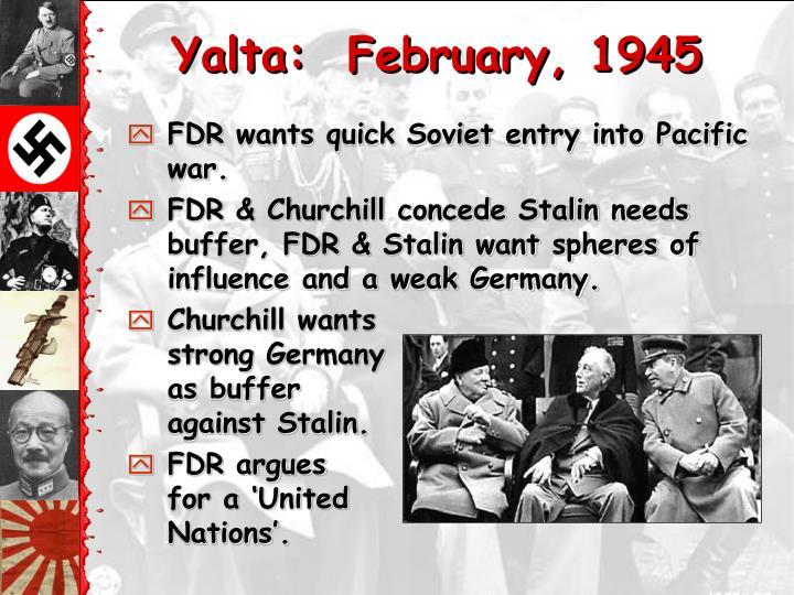Yalta:  February, 1945