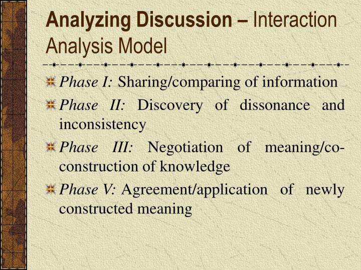 Analyzing Discussion –
