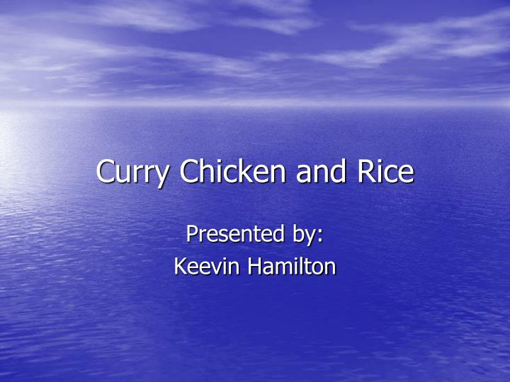 curry chicken and rice n.