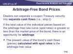 arbitrage free bond prices