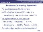 duration convexity estimates