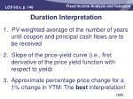 duration interpretation