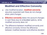 modified and effective convexity