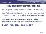 required reinvestment income