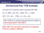 semiannual pay ytm example