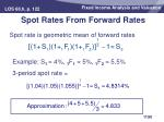 spot rates from forward rates