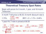 theoretical treasury spot rates