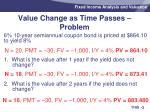 value change as time passes problem