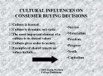 cultural influences on consumer buying decisions2