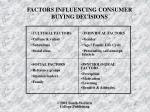 factors influencing consumer buying decisions